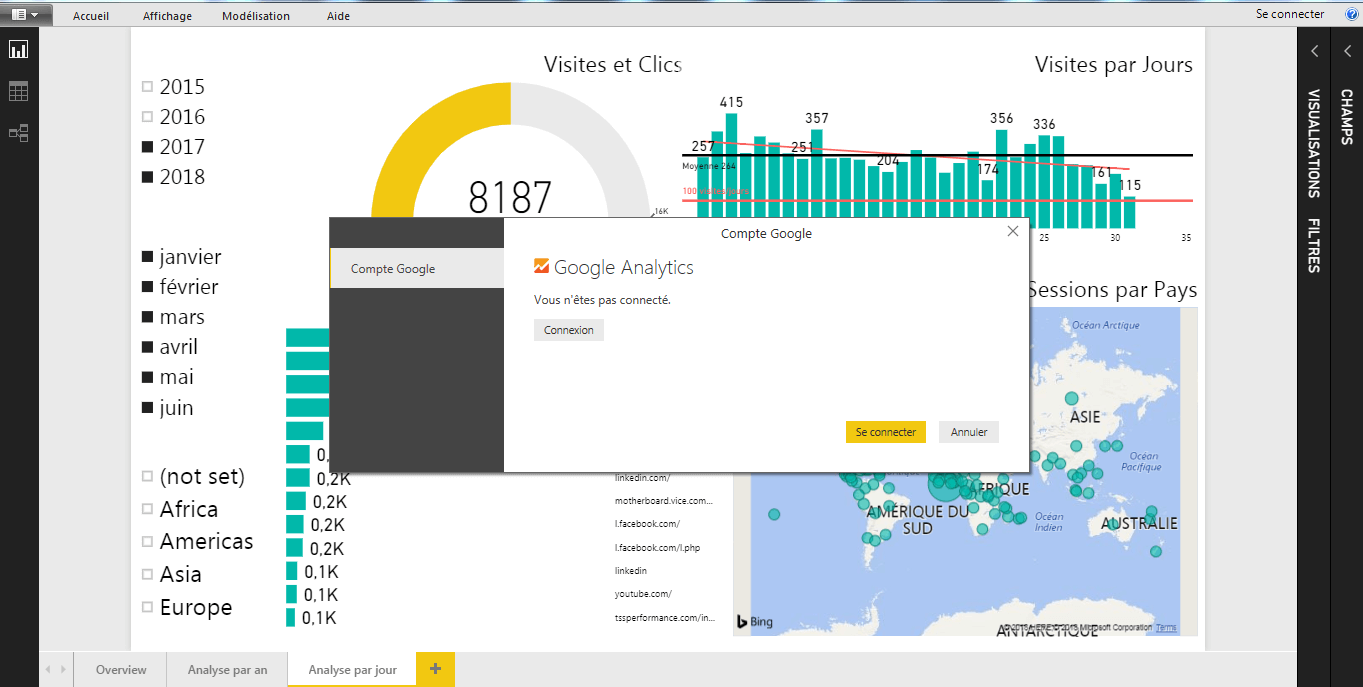 Power BI Connection Google analytics